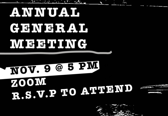 AGM: 9 NOV @ 5:00PM