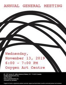 Annual General Meeting @ Oxygen Art Centre